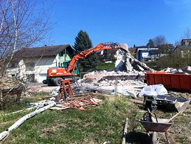 Abbrucharbeiten mit Kispert Bau