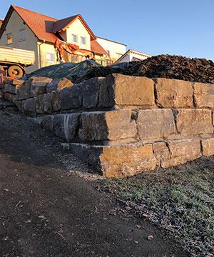 Natursteinmauern mit Kispert Bau aus Limbach