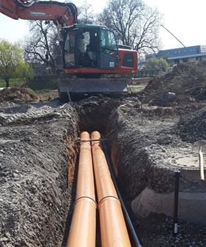 Tiefbau Kanalbau mit Kispert Bau