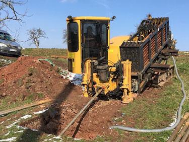 Leitungsbau mit Kispert Bau aus Limbach