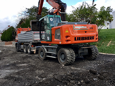 Strassenbauarbeiten mit Kispert Bau aus Limbach